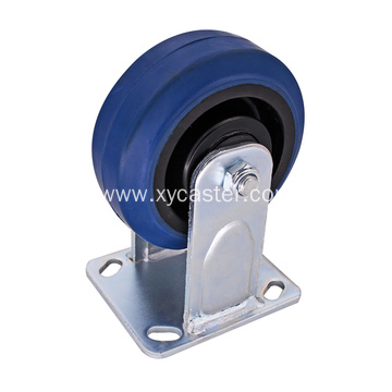 Heavy duty Rigid Caster 5Inch Rubber wheel caster