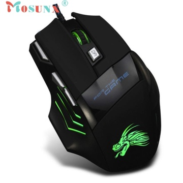 Top Quality Hot Selling Fashion Design 5500 DPI 7 Button LED Optical USB Wired Gaming Mouse Mice For Pro Gamer JUL 11 18Apr12