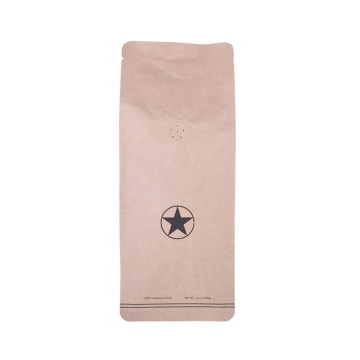 1000g bio pack brown kraft paper coffee bags with zipper