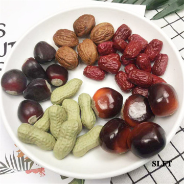 Shop Store decoration fake fruit artificial Simulation peanut Walnuts acorn apricot kernel red dates dry dried fruit nuts model