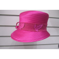 Women's Satin Ribbon Dress Church Couture Hats