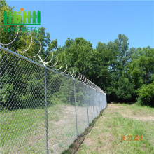 galvanized chain link fence panel