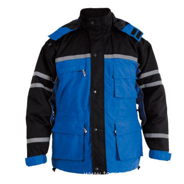 Blue with black Winter Jacket