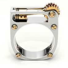 New personality geometric mechanical unisex ring fashion jewelry