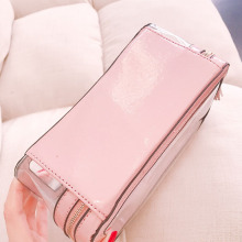 PU Leather PVC Clear Cosmetic Ladies Bags