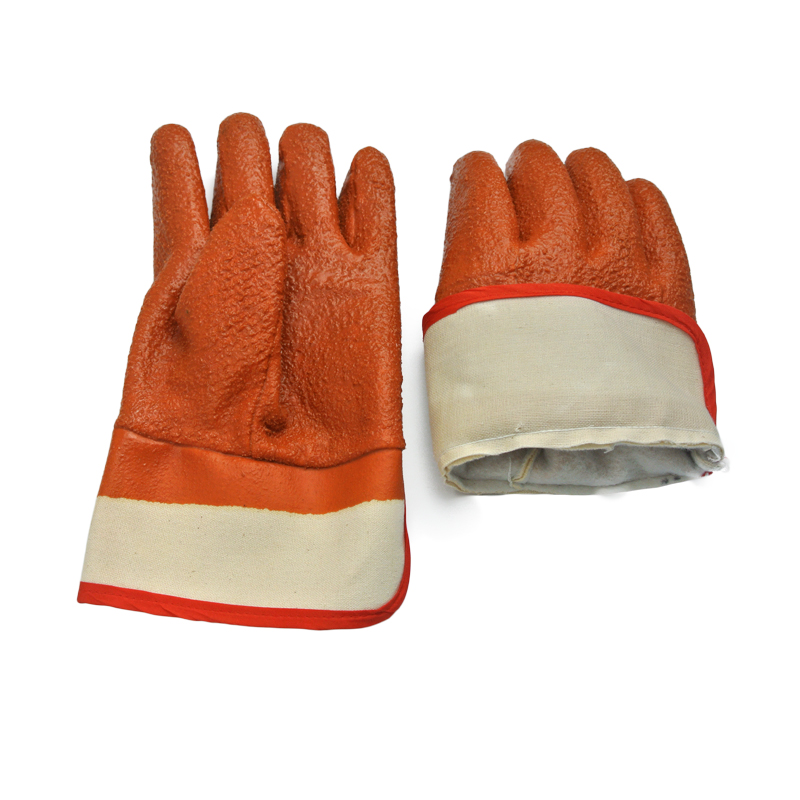 Brown PVC Coated gloves