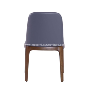 Modern Leather Grace Armless Dining Chair
