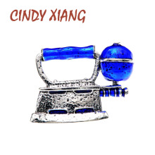 CINDY XIANG Enamel Steam Iron Pin Unisex Women And Men Brooches Creative Desgin Pin Fashion Jewelry 4 Colors Available