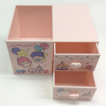 Plastic storage box with drawer