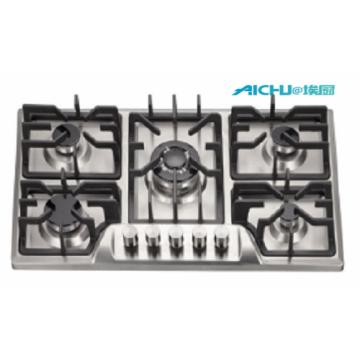 Built-in 5 Burners Silvery Gas Hob