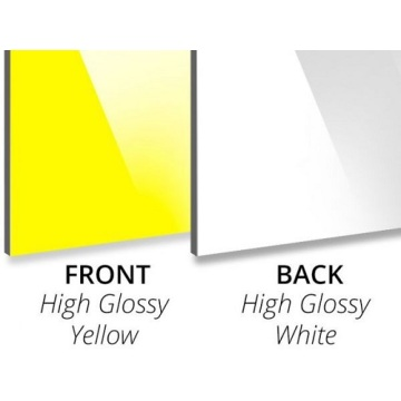 Gloss Yellow/Gloss White Aluminium Composite Panel