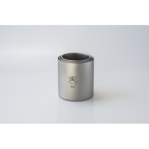 Pure Titanium Double Wall Water Mugs
