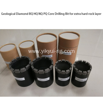 Geological Diamond BQ PQ Core Drill Bit forRock