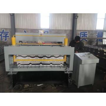 Corrugated steel roof sheet roll forming machine
