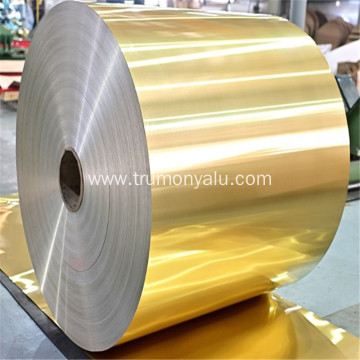Golden aluminum hydrophilic foil for heat exx changer