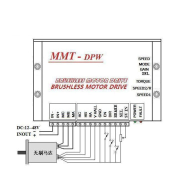 bldc controller 15A brushless dc motor speed control
