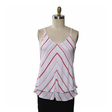 Ladies Blouse Sleeveless Printed