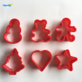 Plastic 6pcs Christmas Cookie Cutter set
