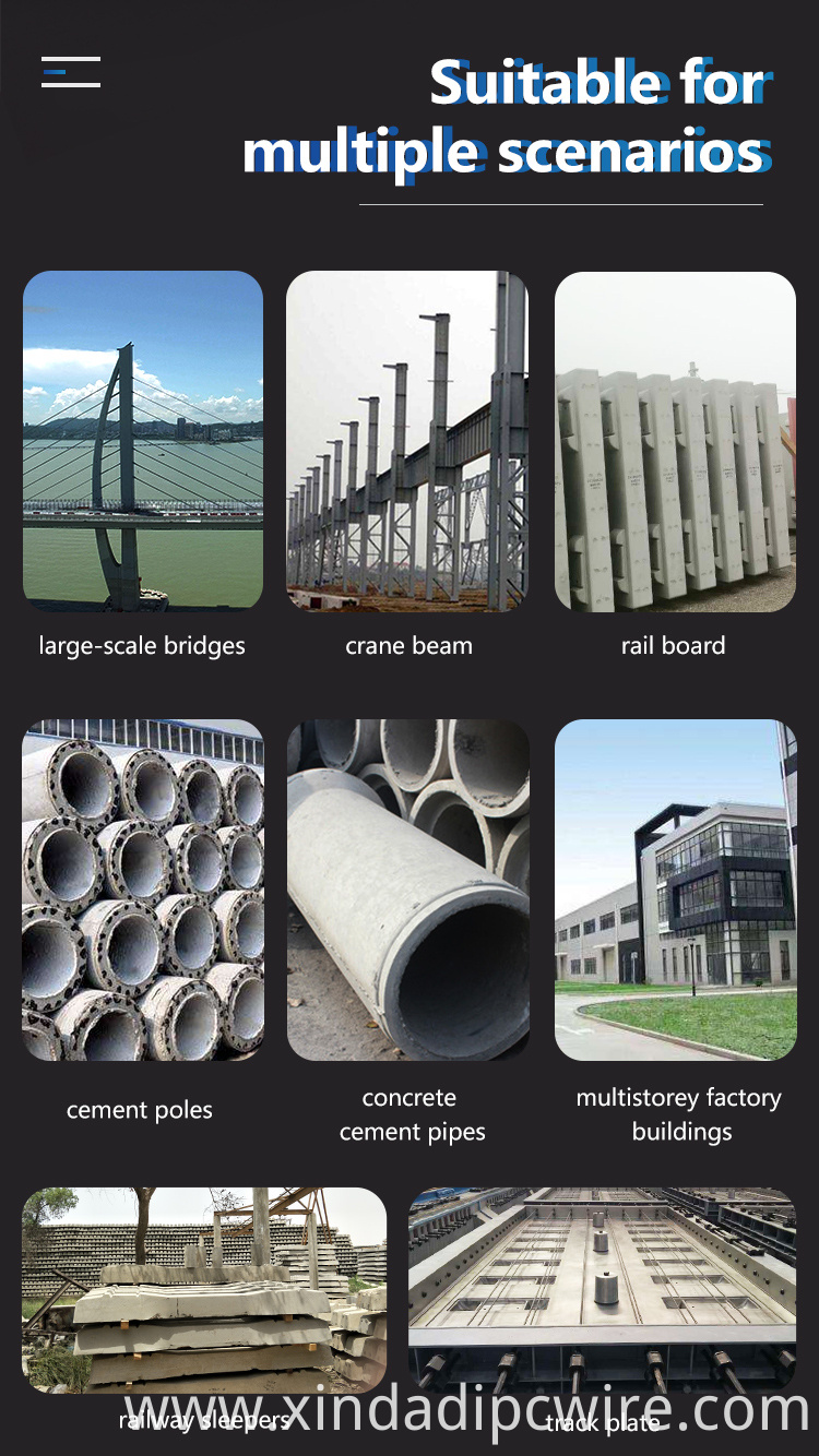 Prestressed wire application