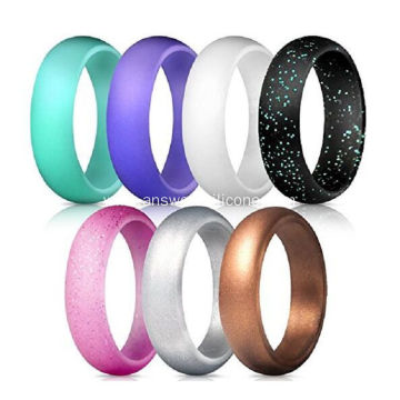 Eco friendly custom silicone ring wedding band