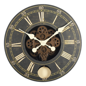 16 Inches Classic  Gear Pendulum Wall Clock