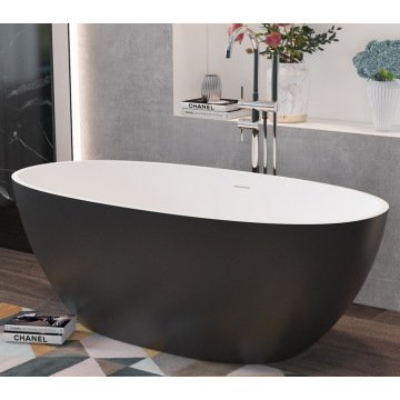 Black Freestanding Bathtub Acrylic