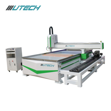 3.7KW air cooled cnc router with rotating shaft
