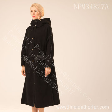 Black Fur Coat Womens