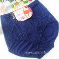 OEM China new sapphire elegant underwear lace spandex plus size panty fat woman briefs 6036