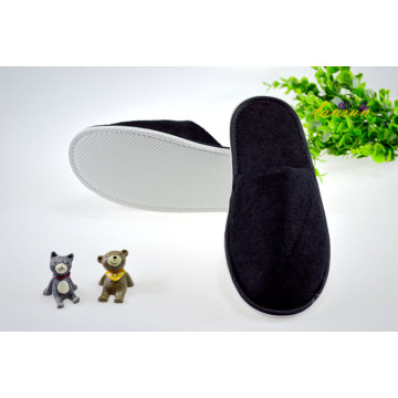 Black Terry Slipper Cheap Hotel Spa Slipper