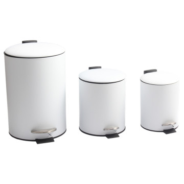 Round Step Trash Can for Home Storage
