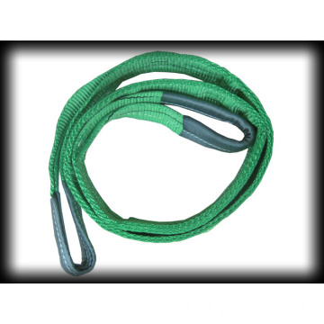 Green Webbing Sling With Flat Eyes For Lifing