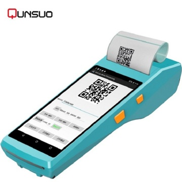 5.5inch touch screen PDA barcode scanner printer
