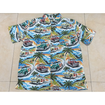 High quality polyester printing hawaii shirt