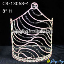"8"" Wholesale Mix Color Rhinestone Zebra Pageant Crown"