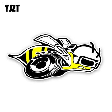 YJZT 13.4CM6.5CM Fashion Lovely Cartoon Hornets Colored PVC Car Sticker Graphic Decoration C1-5180