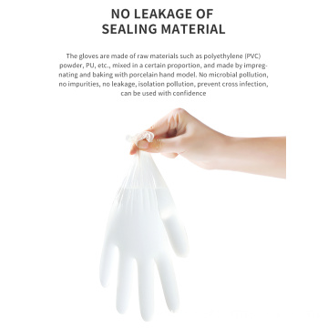 Disposable Powder-free Protective Isolation PVC Gloves