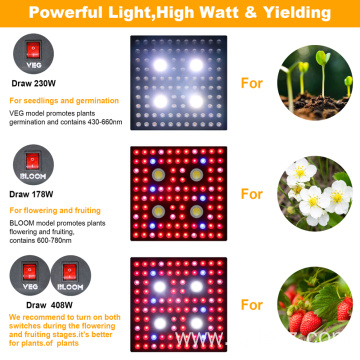 PPE 2.8umol/j Full Spectrum 2000Watt LED Grow Light