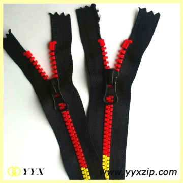 Separative Colored Zip Teeth #5 Plastic Rainbow Zipper
