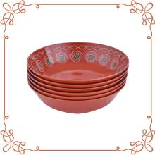 "6"" Melamine Shallow Bowl Set of 6"