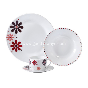 16 Piece Porcelain Dinner Set with flower