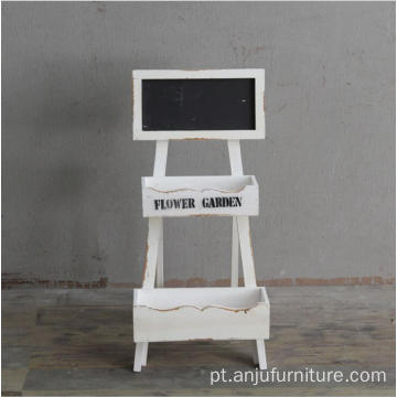 Standing shabby wooden chalkboard wooden blackboard with stand