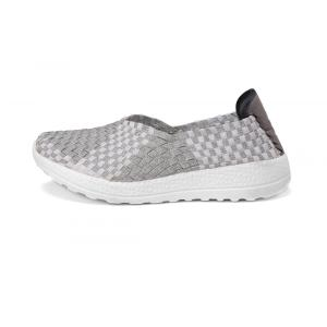 High Breathability Stretch Woven Upper Women Slip-ons