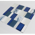 Blue glass and ceramic mosaic tiles