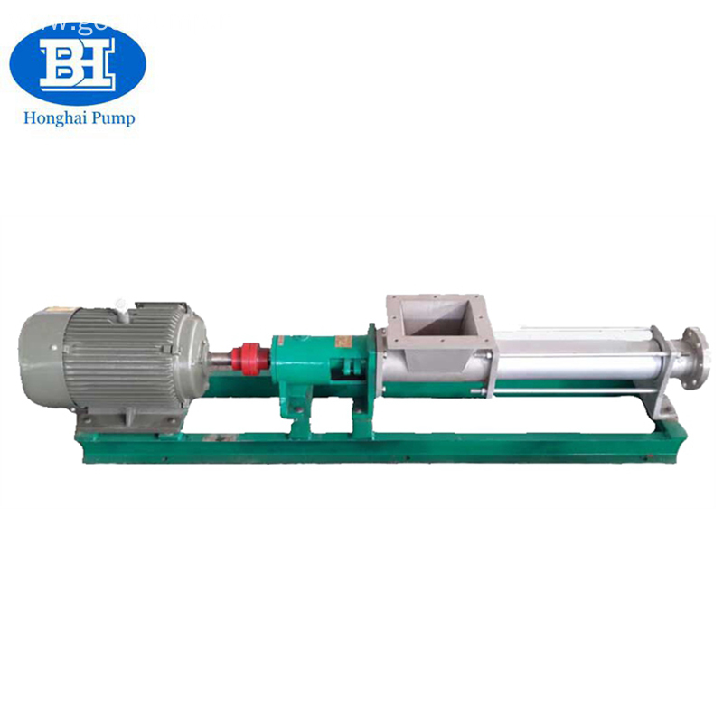 High efficiency stainless steel electric single screw pump
