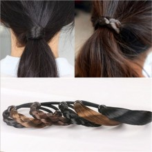 Fashion Braided Hair Band For Women Pigtail Type Rubber Bands Korean Style Hair Ring For Girl Hair Extension Ponytail Holder