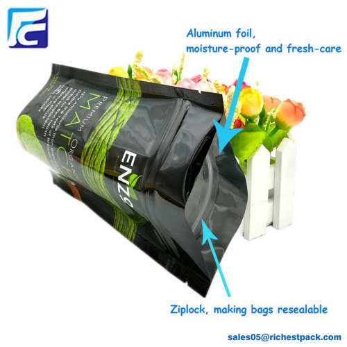 Custom printing zipper foil whey protein powder bag