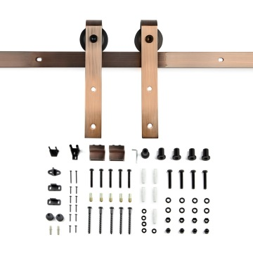 Antique Copper traditional sliding barn door hardware kits