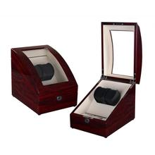 Rose Wood Watch Winder Box with Storage