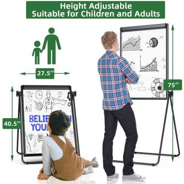 Black U Stand Flipchart Magnetic Whiteboard for Teaching